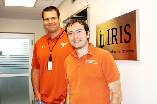 Adrian Ambrus and Roman Shor from UT Austin spent two weeks at IRIS. Photo: IRIS